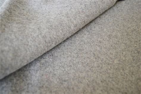wool fabric light grey felt fabric by the yard wool felt by the yard