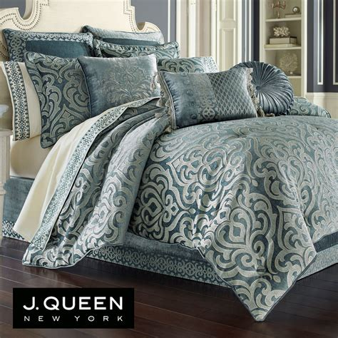 j queen new york bedding sicily teal medallion comforter bedding by j queen new york