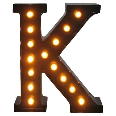 Metal Marquee Letter K - Threshold : Target K