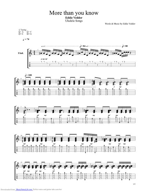 ukulele tutorial eddie vedder more than you know guitar pro tab by eddie vedder