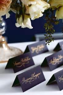 navy blue and gold wedding placecards calligraphy font 30 navy blue and gold wedding color ideas deer pearl flowers