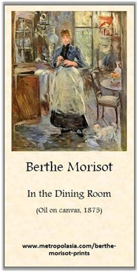 berthe morisot in the dining room best of berthe morisot on pinterest berthe morisot art