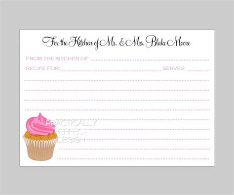 wedding shower recipe card template best sle bridal shower invitations with recipe cards