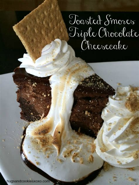 Copycat Cheesecake Factory Toasted S'mores Chocolate Cheesecake   Hugs and Cookies XOXO