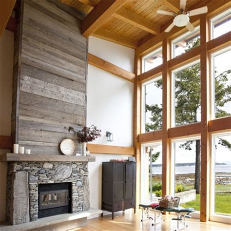 home dzine home diy reclaimed wood fireplace surround