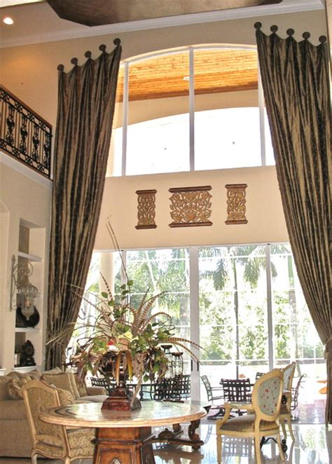 Vaulted Ceiling Curtain Ideas by Finishing Touches Living Room Denver By Finishing