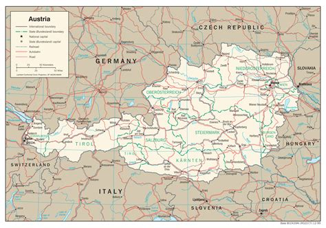 physical map of austria maps of austria detailed map of austria in