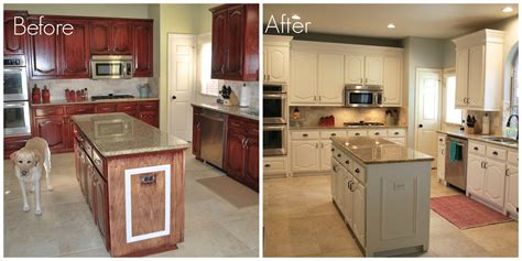 repainting kitchen cabinets before and after our kitchen transformation from dark to white beautiful