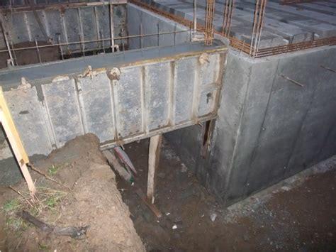 fondation pour garage mur soutenement sous fondation garage