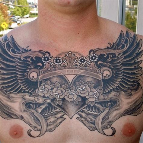 tattoo chest crown chest tattoos and designs page 336