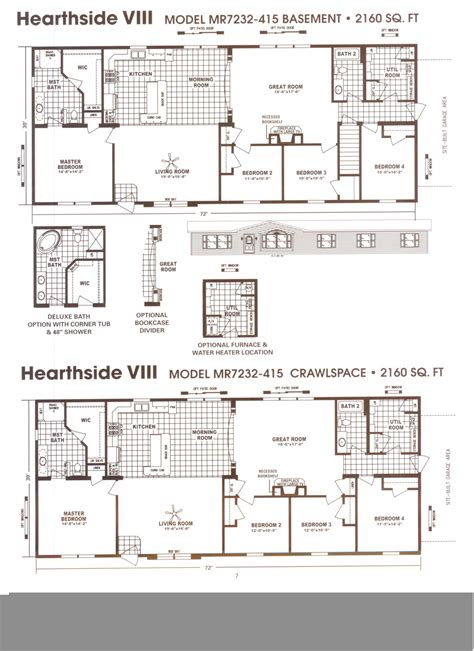 schult homes floor plans schult hearthside viii modular manufactured home plans