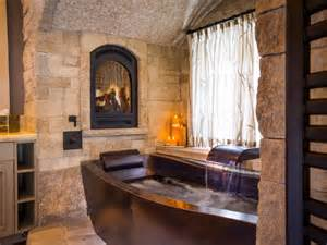 Tuscan Outdoor Living Spaces - copper soaking tub traditional bathroom by diamond spas