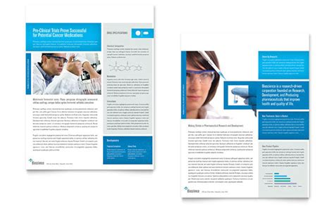 Science Chemistry Datasheet Template Design Science Brochure Template