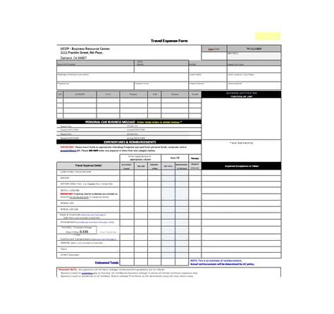 sample employee expense forms 8 free documents in word pdf