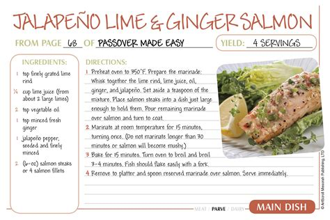 recipes for free passover recipe cards the official