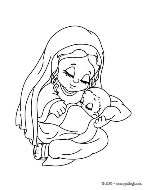 imagenes de la virgen maria para pintar virgen mar 205 a dibujos para colorear la virgen maria con su bebe el ni 241 o