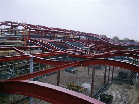 Curved Roof Construction Curved Roofs Form New Corby School Newsteelconstruction