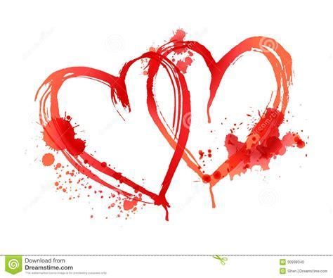 imagenes negras con corazones 血淋淋的心脏由污点做成