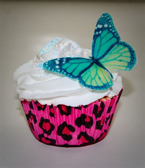 butterfly cookies made with wafer paper set of 18 large green butterfly edible wafer paper cupcake