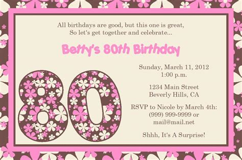 free 80th birthday invitations templates 15 sle 80th birthday invitations templates ideas free sle birthday invitations
