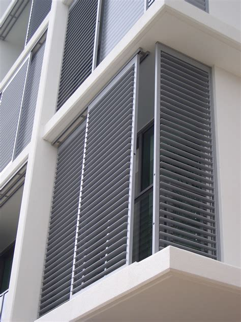 Outdoor Shutters Shutter Enclosures Aluminum Shutter Panels Houston The