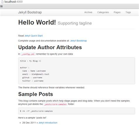jekyll layout config jekyll在github上构建免费的web应用 粉丝日志