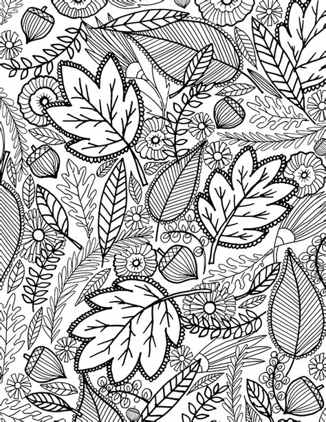 leaves coloring pages for adults alisaburke a fall coloring page for you