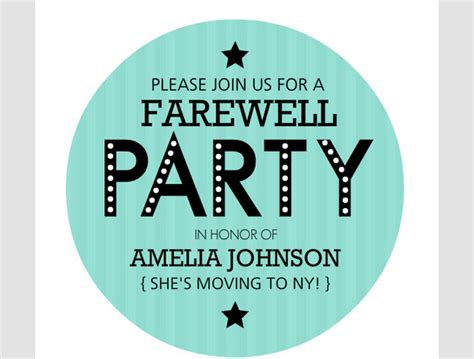 farewell party invitation template sle templates