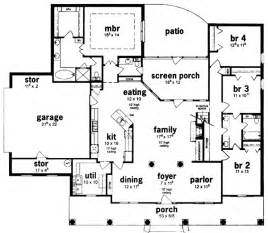 4 Bedroom Ranch Style House Plans by Gallery For Gt 4 Bedroom Ranch House Floor Plans