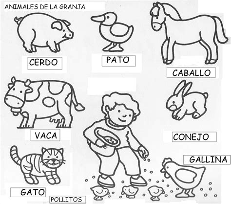 imagenes de animales de granja para colorear animales on pinterest