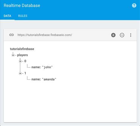 tutorialspoint firebase firebase arrays