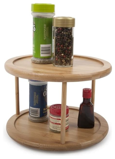lazy susan storage containers two tier bamboo lazy susan modern pantry and cabinet
