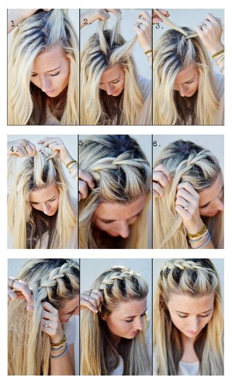tutorial rambut casual hairstyles tips and tutorial make a half up side french braid
