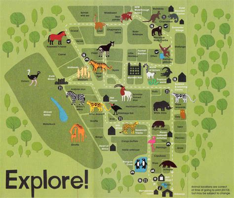 leaflet map layout rebecca sutherland marwell zoo animals and map