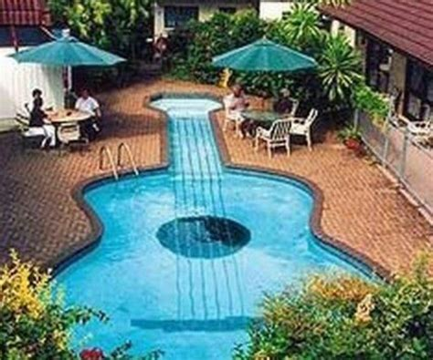 guitar shaped swimming pool guitar shaped a girl can dream home pinterest