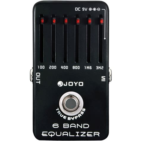 joyo jf 11 6 band equaliser guitar eq effects pedal with