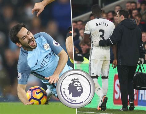 epl injury premier league injuries man city and man utd stars join