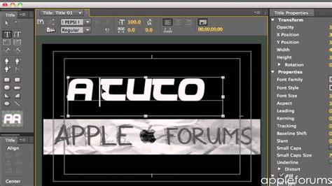 adobe premiere pro text adding text in adobe premiere pro cs5 5 tutorial youtube