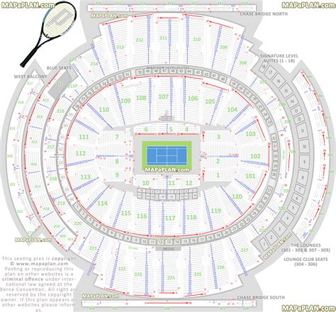 Map Of Square Garden by Square Garden Seating Chart Tennis Tournament Detailed Plan Mapaplan