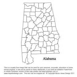 Alabama Blank Map by Alabama To Georgia Us County Maps