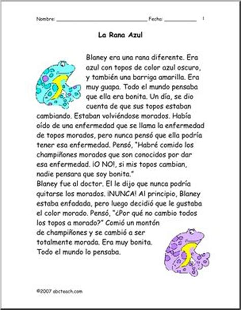 reading comprehension test in spanish reading comprehension reading comprehension worksheets