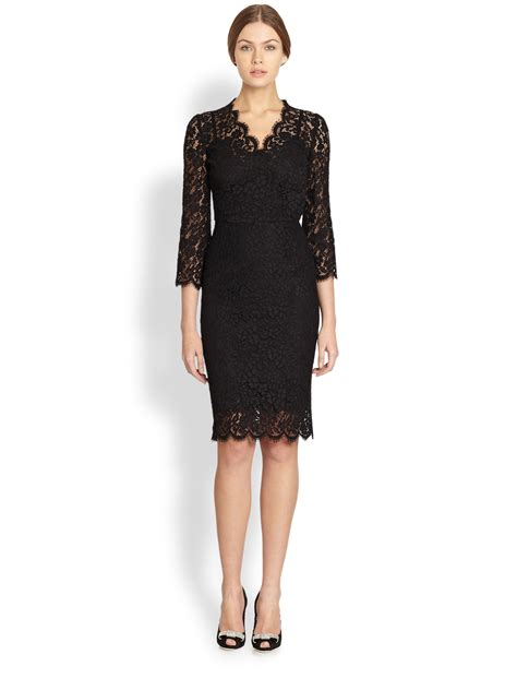 Dress In dolce gabbana lace dress in black lyst