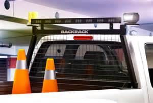 backrack safety rack truck bed equipment or lighting