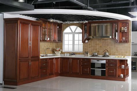 solid kitchen cabinets china solid wood cherry kitchen cabinets china mfc