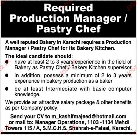 pastry chef description sle images