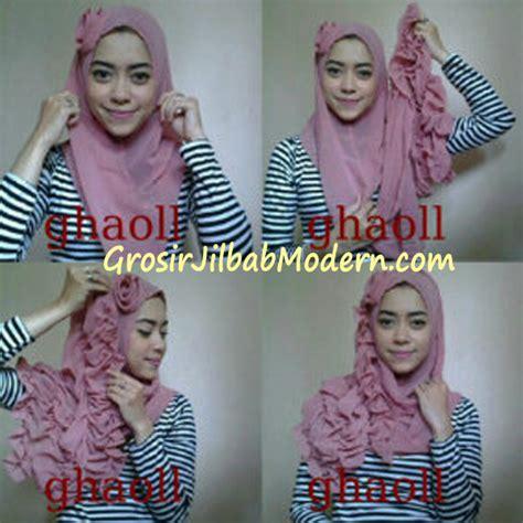 Jilbab Instan Ghaoll cara pakai pashmina instant crinkle by ghaoll grosir jilbab modern jilbab cantik jilbab syari