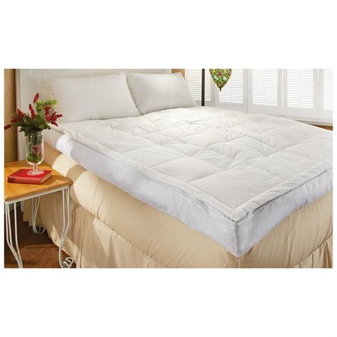 pillow top bed topper 5 quot down pillow top feather bed 420872 mattress toppers