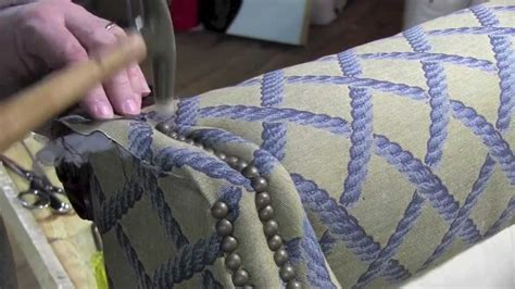 how to upholstery upholstery installing decorative tacks in a wingback chair