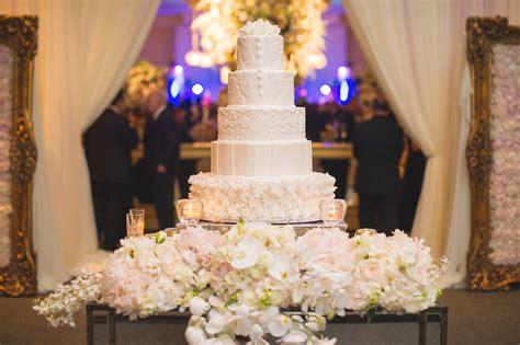 wedding cake table display wedding cake displays stunning floral embellished cake