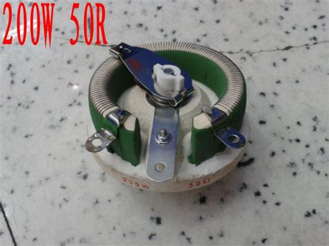 rotary variable power wirewound resistor ceramic variable resistor rotary rheostat high power wirewound potentiometer 200w 50 ohm